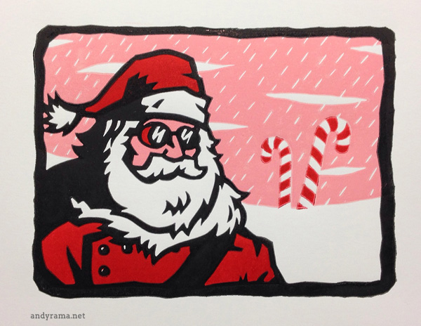 Santa Claus Explores the Peppermint Tundra by Andrew O. Ellis - Andyrama